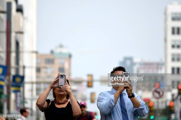 Pictures are taken as thousands of pedestrians cyclist skaters joggers participate in the third annual Philly Free Streets event at a 4mi carfree...