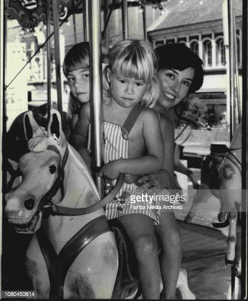 Pictures at this year Royal Easter Show of which it was it's first dayPictured on the MerryGoRound are Anthea aged 3 and Joanne 5 Beckenham of...