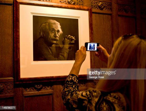 Pictures by the well known portrait photographer Yousuf Karsh hang in the lobby of the Fairmont Chateau Laurier Hotel on June 30 2012 in Ottawa...
