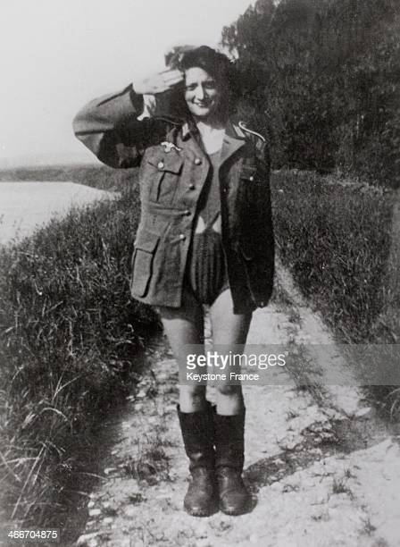 Pictures found on germans prisoners of war during liberation of France in France in 1940's