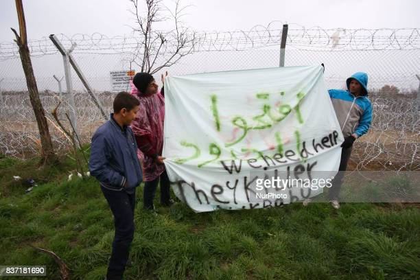 Pictures from Idomeni on 29th of February in 2016. Idomeni is a little village in the Greek-FYROM borders. About 10.000 refugees created a makeshift...