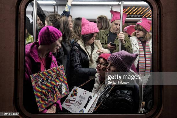 Pictures from the 2017 Women's March on Washington, the day after Donald J. Trump's inauguration as president of the United States, in Washington DC...