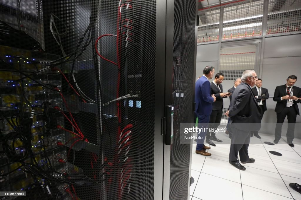Inauguration Of A Data Center In The Northen Parisian Of Paris : News Photo