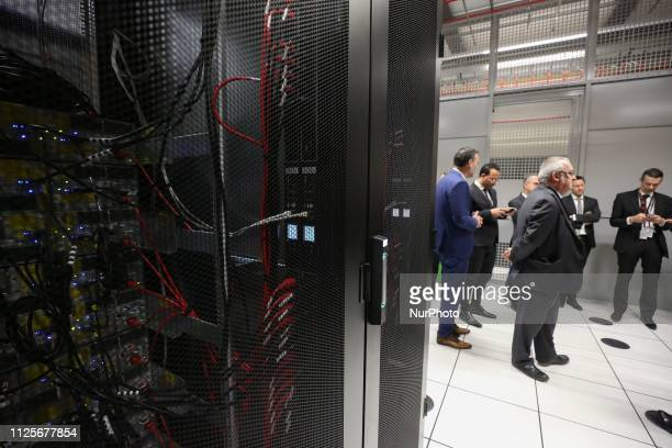 Pictures of computer racks taken during the inauguration of the Paris Equinix Data Center called PA8 the companys first International Business...