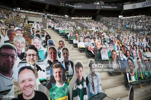 Pictures of fans of Bundesliga club Borussia Moenchengladbach are seen on May 08, 2020 in Moenchengladbach, Germany. Borussia Moenchengladbach...