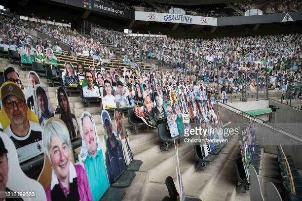 Pictures of fans of Bundesliga club Borussia Moenchengladbach are seen on May 08 2020 in Moenchengladbach Germany Borussia Moenchengladbach...