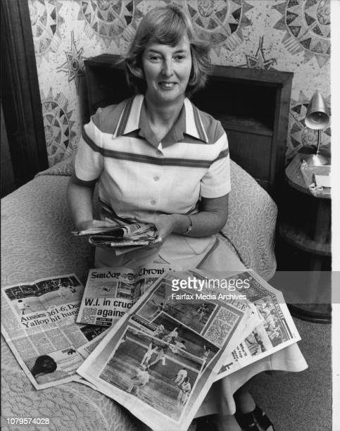 Pictures of Miss Julie Matthews Australia's number one cricket fan who has just returned from the West Indies She is pictured at the Hyde Park Hotel...