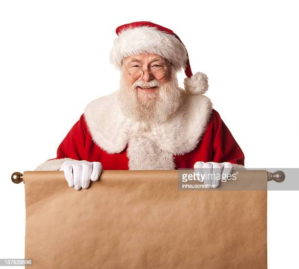 pictures of real santa claus are you on his list - santa face stockfoto's en -beelden