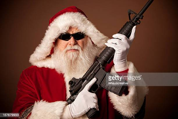 Pictures of Real Santa Claus Got A Gun