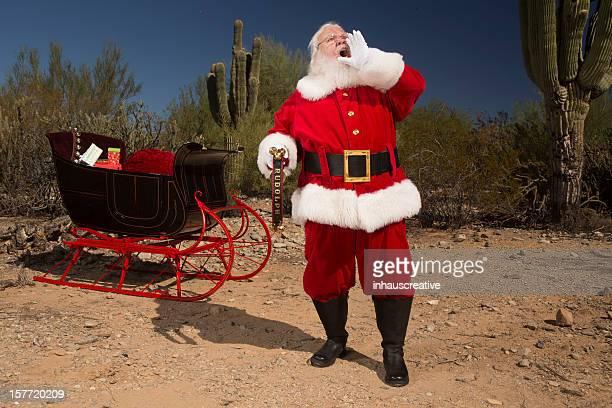 Bilder von echten Santa Claus lost mit Schreien für Rudolph