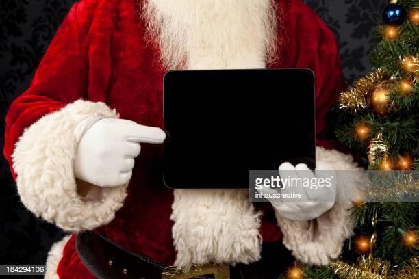 Fotografias do Real Pai Natal com Tablet Digital