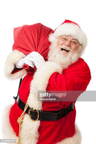 Pictures of Real Santa Claus With A Gift Bag