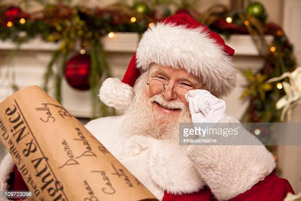 pictures of real santa claus's list he's checking twice - list stock pictures, royalty-free photos & images