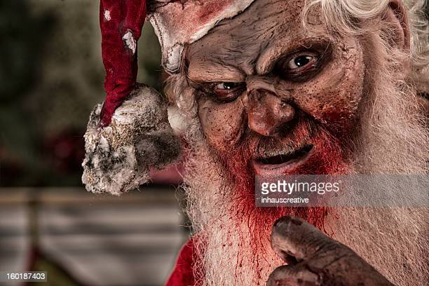 pictures of real santa zombie the serial killer - dirty santa stock pictures, royalty-free photos & images