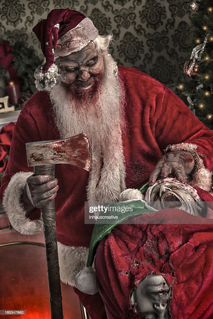 Christmas Zombie Santa.Pictures Of Real Serial Killer Santa Zombie High Res Stock