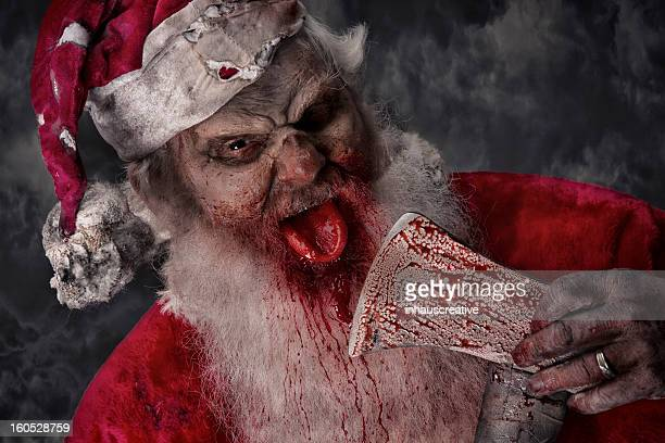 Pictures of Real Serial Killer Santa Zombie with bloody axe