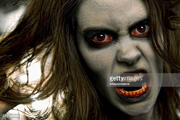 pictures of real zombie dead girl - ugly girl stock photos and pictures