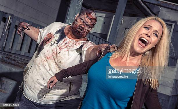 Pictures of Real Zombie Grabbing Screaming Victim