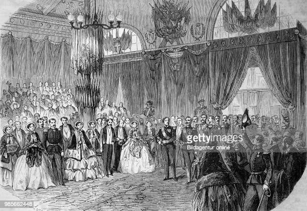 Pictures of the time of 1855 greeting of the king of sardines at the station of Lyon on November 23 France digital improved reproduction of an...