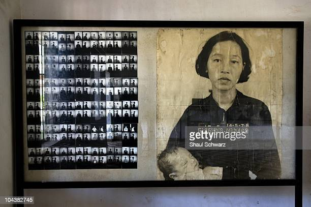 Pictures of the victims are displayed at the Tuol Sleng Genocide Museum in Phnom Penh, the capital of Cambodia, January 28, 2008. The site is a...