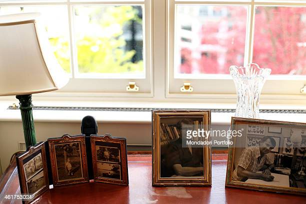 Pictures portraying the writer Wilbur Smith photo shooted in his house in the borough of Kensington in London London Great Britain 1st April 2009