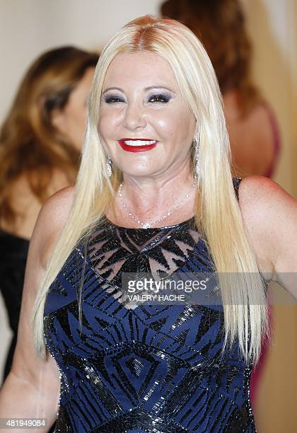 Picture's producer Monika Bacardi arrives to attend the 67th annual Red Cross Gala on July 25 in Monaco Created in 1948 the gala is an annual charity...