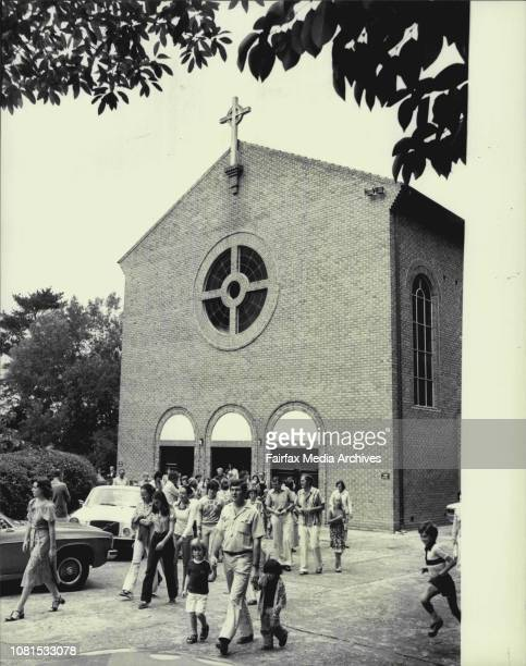 Pictures taken at the Wahroonga Ron Catholic Church to accompany Barbara Bolton story about the church concentrating to much of it's manpower and...