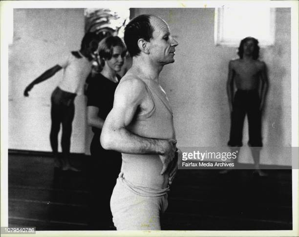 Pictures taken during Lindsay Kemp movement class at Glebe this afternoon. May 18, 1976. .