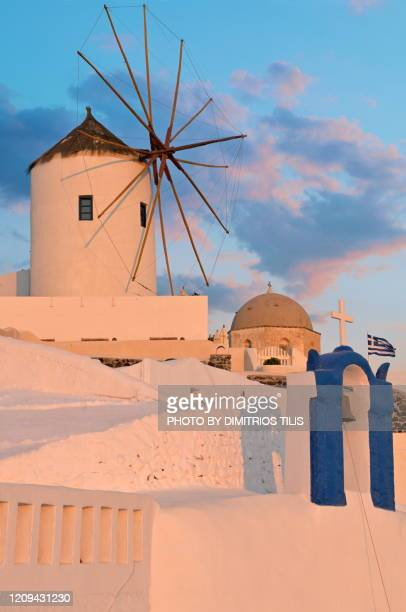 picturesque corner at oia - dimitrios tilis stock pictures, royalty-free photos & images