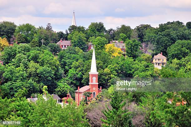 picturesque galena - illinois stock pictures, royalty-free photos & images