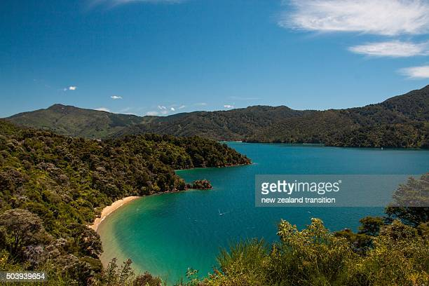 Picturesque Governors Bay near Picton, Marlborough Sounds, New Zealand