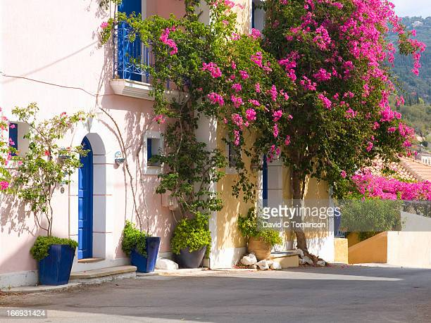 Picturesque houses, Assos, Kefalonia, Greece
