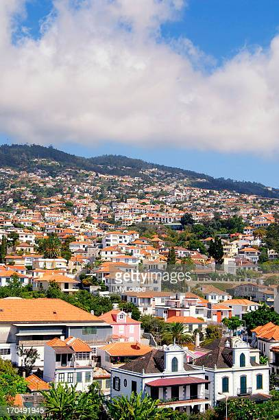Picturesque image over the city of Funchal on Madeira Portugal