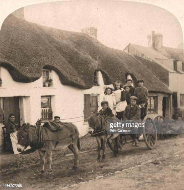 "Picturesque Life and Customs of an Irish Village, Ireland', 1901. From ""Underwood and Underwood Publishers, New York-London-Toroto Canada-Ottawa..."