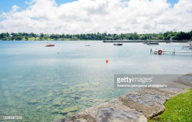picturesque skaneateles lake, new york, usa - スカネアトレス湖 ストックフォトと画像