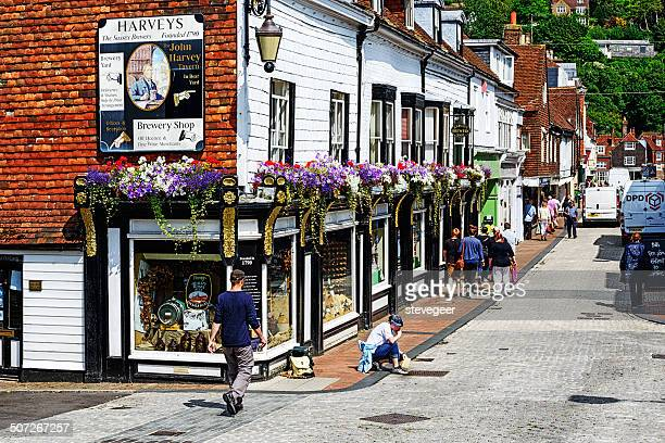 Picturesque street in Lewes, England