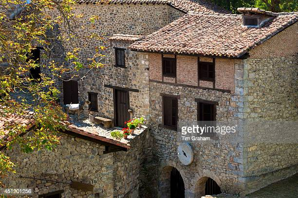 Picturesque town of Potes in valley of the Picos de Europa, Cantabria, Northern Spain