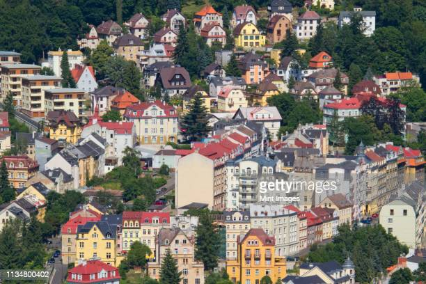 picturesque town - karlovy vary stock pictures, royalty-free photos & images