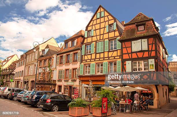 Picturesque view of Petite Venise Colmar charming town located in the Haut Rhin departamenteo Alsace region of France France