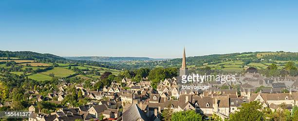 picturesque village idyllic summer rural landscape aerial panorama - english culture stock pictures, royalty-free photos & images