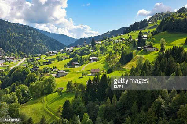 Picturesque village St Nicolas La Chapelle in the French Alps