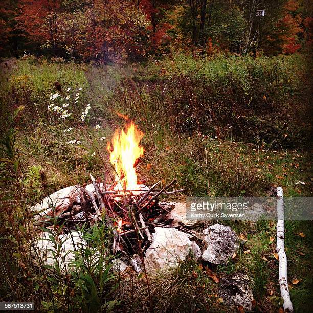 picturing autumn - bon fire stock photos and pictures