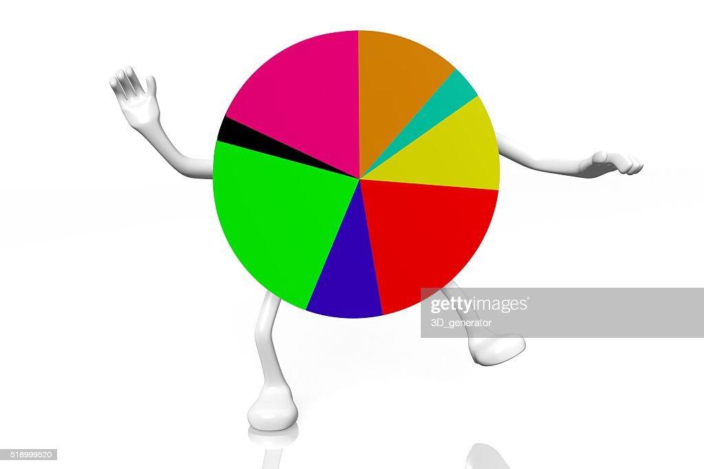 3d Pie Chart Diagram Cartoon Stock Photo Getty Images