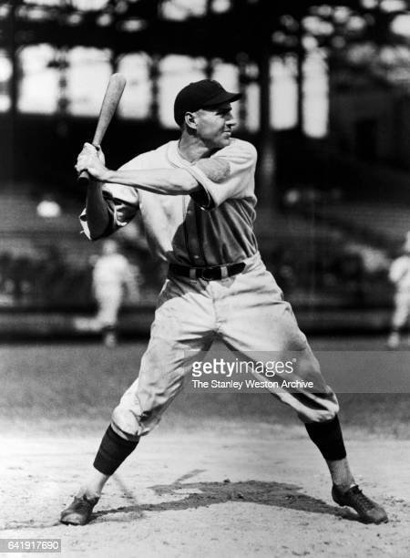 Pie Traynor third baseman of the Pittsburgh Pirates in a batting stance during his Most Valuable Player year in the year 1925
