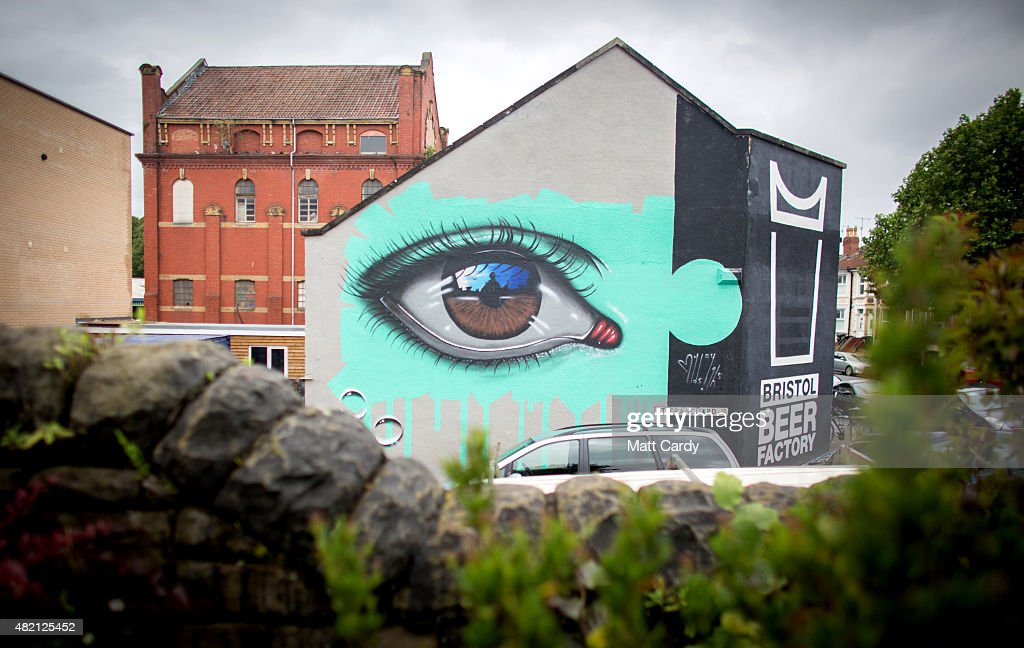 A piece by My Dog Sighs is seen as part of the ongoing Upfest 2015 festival being held in Bedminster on July 27, 2015 in Bristol, England. The three-day annual event - which started in 2008 and is said to be the largest free street art and graffiti festival in Europe, now attracts more than 250 artists from 25 countries to paint live on walls and surfaces around Bedminster and Southville areas of the city of Bristol, which is said to be the hometown of guerrilla artist Banksy.