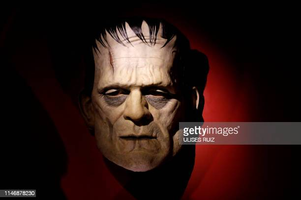 """Piece from the movie """"Frankenstein"""" is on display during the exhibition """"Guillermo del Toro, At Home with My Monsters"""" -a collection of personal..."""