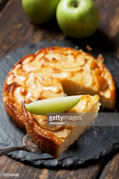 Piece of apple cake