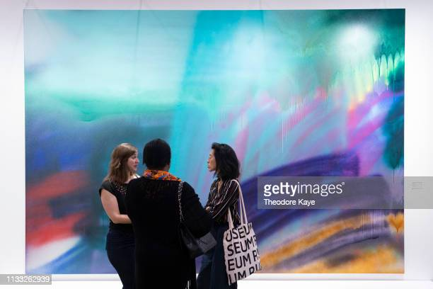 A piece of art on display at Art Basel on March 28 2019 in Hong Kong Hong Kong