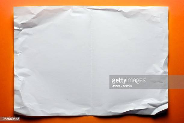 Piece of blank crumpled paper