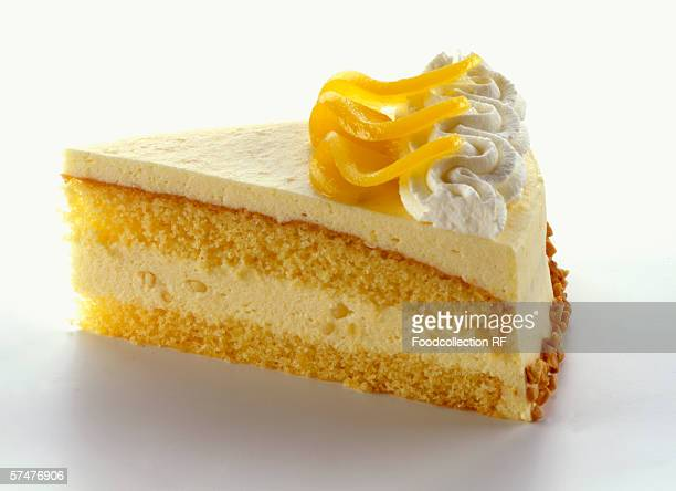 A piece of lemon cream cake